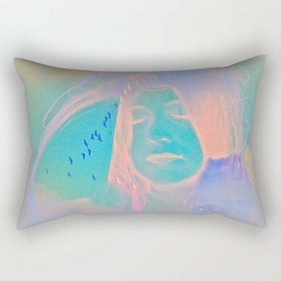Kiss me just once again and I'll be on my way Rectangular Pillow