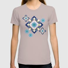 Singing Flowers Womens Fitted Tee Cinder SMALL