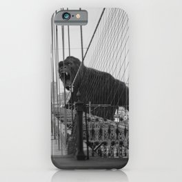 Old Time Godzilla vs. King Kong iPhone Case