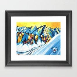Majestic Heli Ski 2017 Framed Art Print