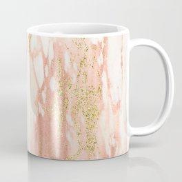 Rose Gold Marble - Rose Gold Yellow Gold Shimmery Metallic Marble Coffee Mug