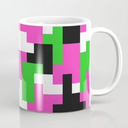 Girl Boss neon color blocks Coffee Mug