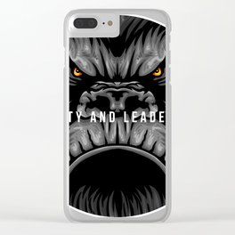 Loyalty and Leadership Gorilla Monkey Ape Simian Gift Clear iPhone Case