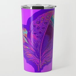 Lee's Purple Feather Travel Mug