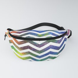 Rainbow Chevron Fanny Pack