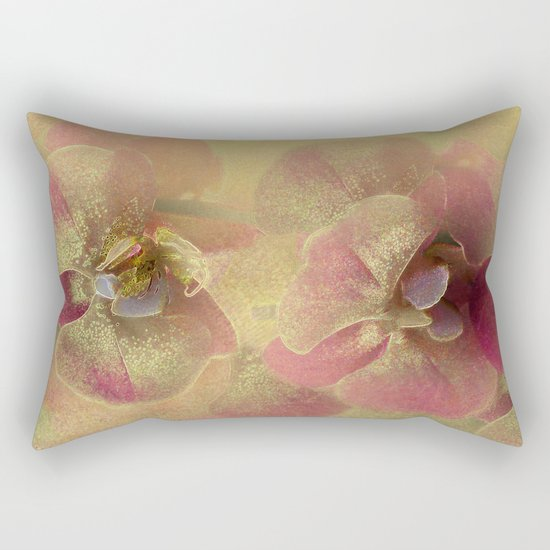 The mystery of orchid(gold). Rectangular Pillow