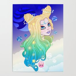 Celestial Girl Poster