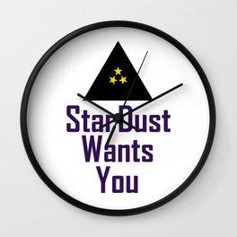 StarDust Wants You Wall Clock