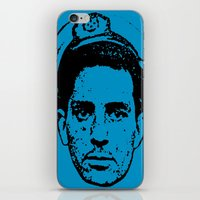 kerouac iPhone & iPod Skins featuring Outlaws of Literature (Jack Kerouac) by Silvio Ledbetter