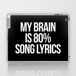 Song Lyrics Funny Quote Laptop & iPad Skin