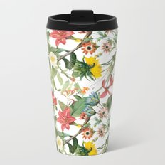 Summer Flower Garden Metal Travel Mug
