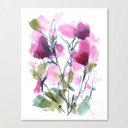 Pink Heart Petals Canvas Print