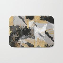 Gold, black abstract,textures Bath Mat