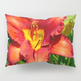 Deep Orange Tiger Lily Pillow Sham