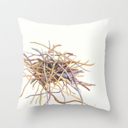 Pile of sticks Throw Pillow