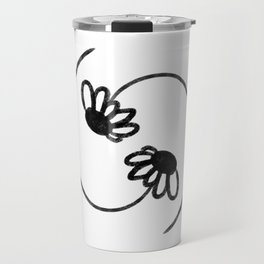 Daisy Yin Yang in Black-on-White Travel Mug