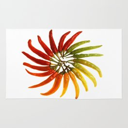 Charleston Hot Peppers Color Wheel Rug