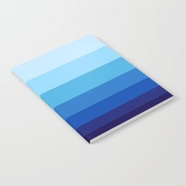 Colorful Blue Gradient Geometric Pattern Notebook