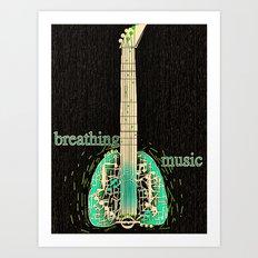 Breathing music Art Print