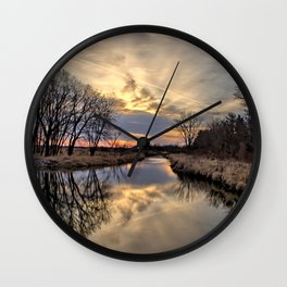 Easter River 3 Wall Clock