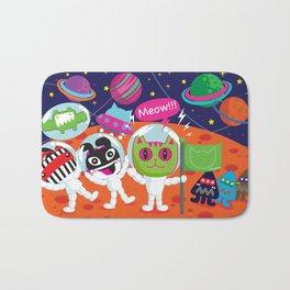 Space Cat in Cat Planet. MEOW!!! Bath Mat