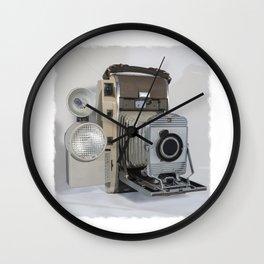 Vintage Polaroid Wall Clock