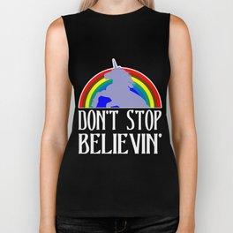 don't stop believin' Biker Tank