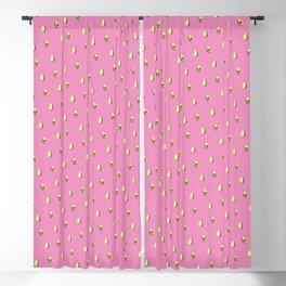 Avocado Print | Pink Blackout Curtain