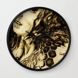 Qouth The Raven Wall Clock