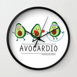 Avocardio (black) Wall Clock