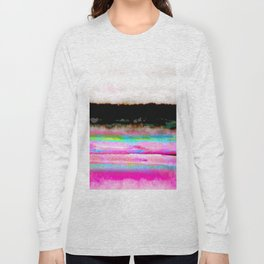 abstract landscape colorful modern painting Long Sleeve T-shirt