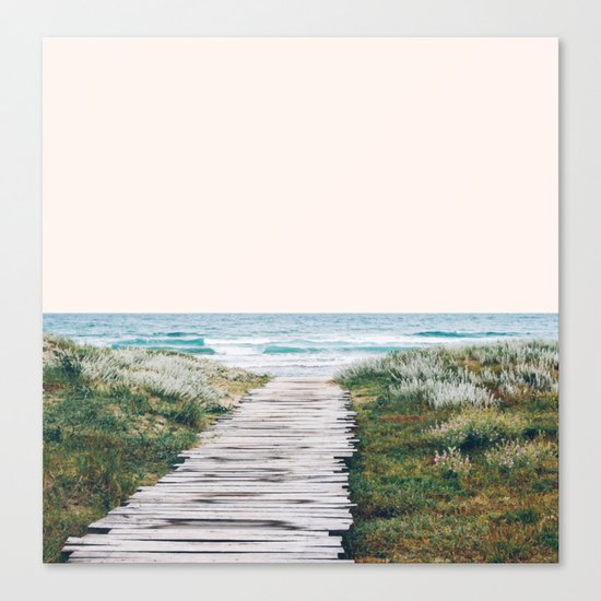 The Ocean is Calling & I Must Go #society6 #buyart Canvas Print
