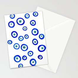 Evil Eyes Watercolor Stationery Cards
