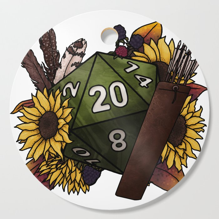 Ranger Class D20 - Tabletop Gaming Dice Cutting Board by sweetdelilahs
