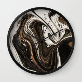 Melted Alps Wall Clock