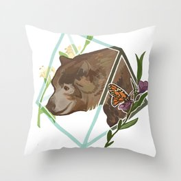 Monarch the California Grizzly Bear Throw Pillow