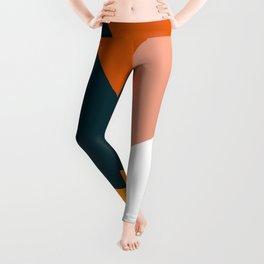 Colorful geometric design in orange & yellow Leggings