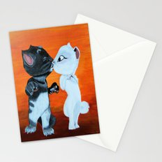 Kissing Cats Stationery Cards