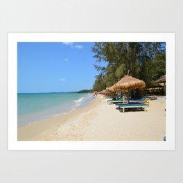 Otres Beach Sihanoukville Cambodia Art Print