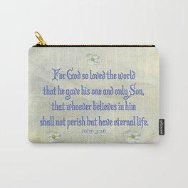 John 3:16 Dogwood Carry-All Pouch