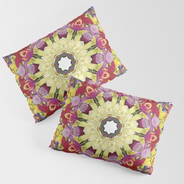 Abundantly colorful orchid mandala 1 Pillow Sham