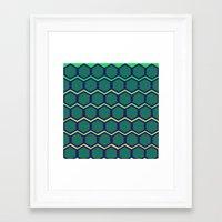 hexagon Framed Art Prints featuring hexagon by myepicass