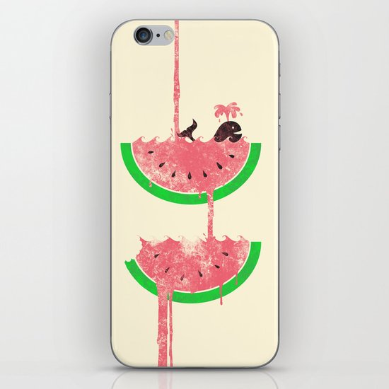 watermelon falls iPhone Skin
