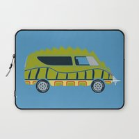 1975 Laptop Sleeves featuring Death Race 2000 Alligator Van by Brandon Ortwein