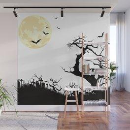 Spooky Halloween Landscape Wall Mural