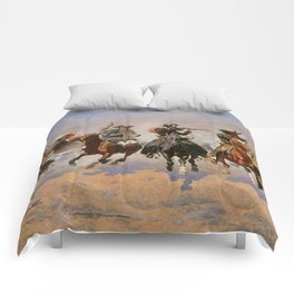 A Dash for the Timber - Frederic Remington Comforters