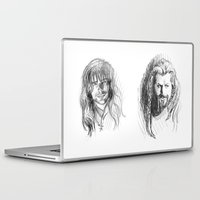 fili Laptop & iPad Skins featuring Fili and Kili by Morgan Ofsharick - meoillustration