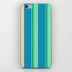 Stripes pattern( sand and turquoise) iPhone & iPod Skin