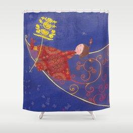 Miss Moon Shower Curtain