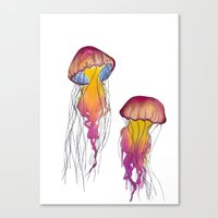 swim Canvas Prints featuring Swim  by Hedda Hultman